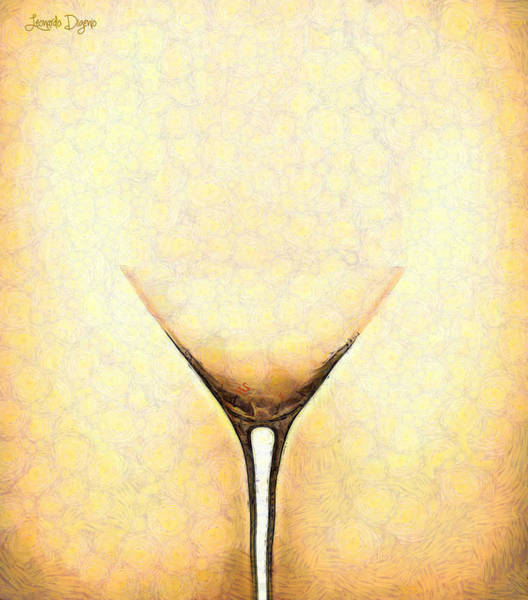 Xxx Painting - The Glass - Pa by Leonardo Digenio