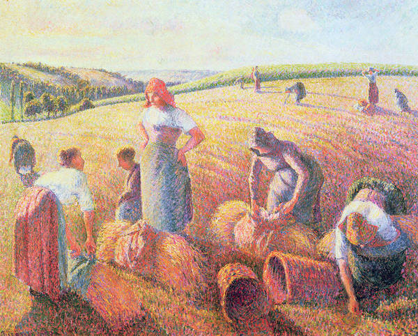 Wall Art - Painting - The Gleaners by Camille Pissarro