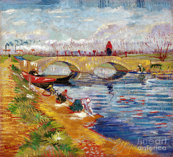 Vincent Van Gogh Painting - The Gleize Bridge Over The Vigneyret Canal  by Vincent van Gogh