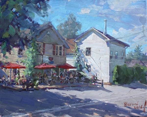 City Cafe Wall Art - Painting - The Glen Oven Cafe by Ylli Haruni