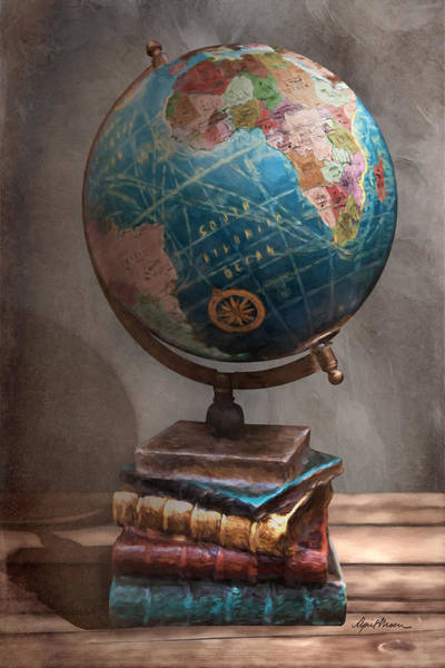Digital Art - The Globe by April Moen