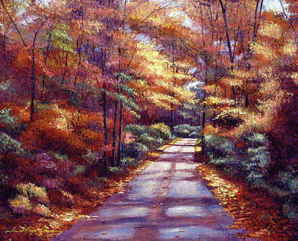 Wall Art - Painting - The Glory Of Autumn by David Lloyd Glover
