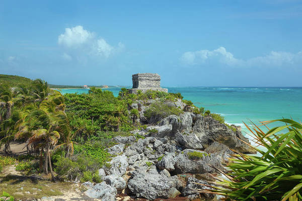 Photograph - The God Of Winds Temple At Tulum by John M Bailey