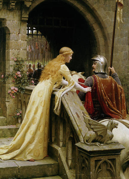 Wall Art - Painting - The God Speed by Edmund Blair Leighton