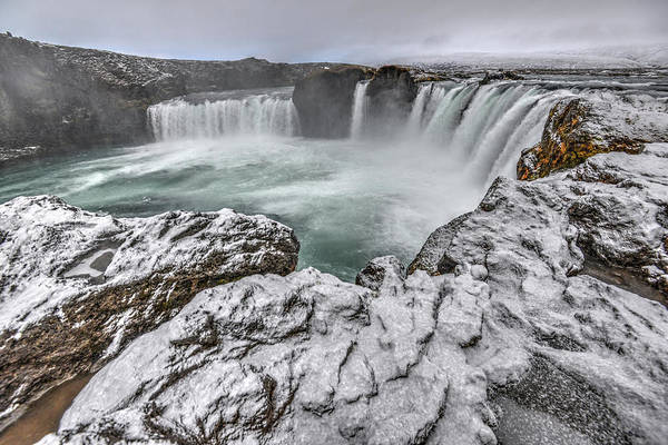 Photograph - The Godafoss Falls In Winter by Matt Swinden