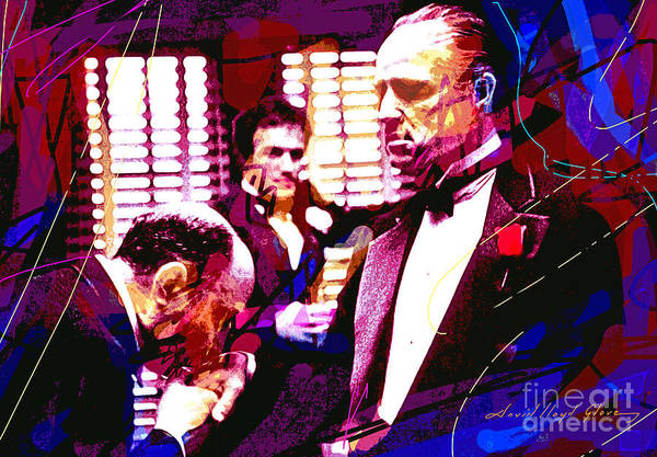 Wall Art - Painting - The Godfather Kiss by David Lloyd Glover