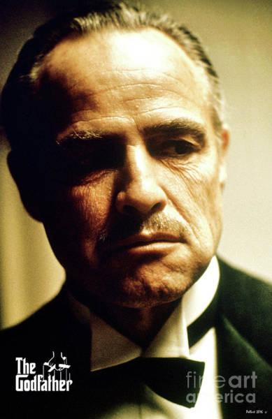 St Louis Cardinals Mixed Media - Marlon Brando As Mario Puzo's, Don Vito Corleone, The Godfather by Thomas Pollart