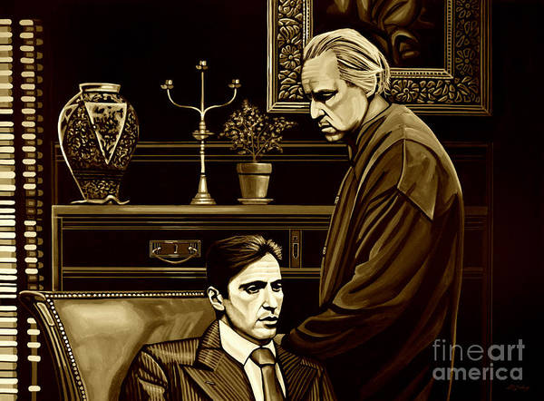 Wall Art - Mixed Media - The Godfather by Meijering Manupix