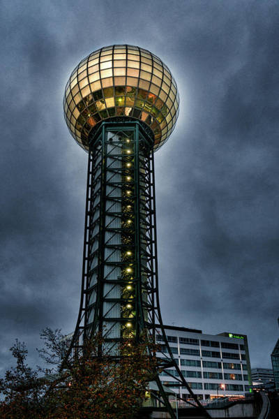 The Gold Ball At The Top Art Print