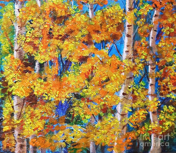 Painting - The Golden Autumn by Asha Sudhaker Shenoy