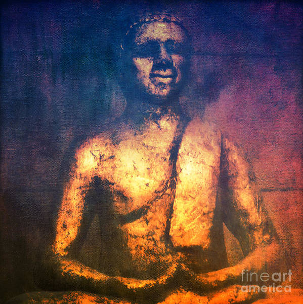 Photograph - The Golden Buddha II by Angela Doelling AD DESIGN Photo and PhotoArt