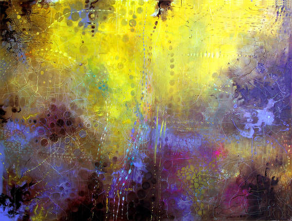 Wall Art - Painting - The Golden Dawning by Lolita Bronzini