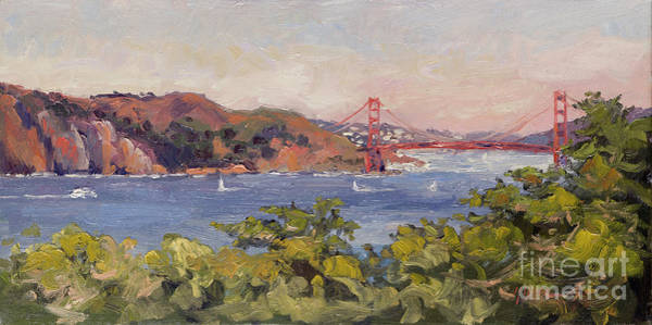Legion Of Honor Painting - The Golden Gate Bridge From The Legion Of Honor, San Francisco by Kristen Olson Stone
