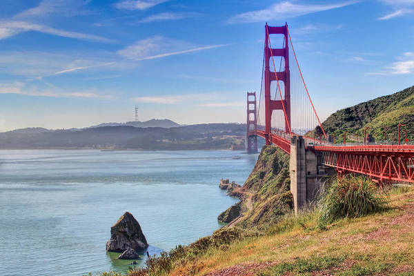 Photograph - The Golden Gate Bridge - View 2 by Susan Rissi Tregoning
