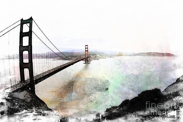 The Golden Gate From The Marin Headlands Art Print