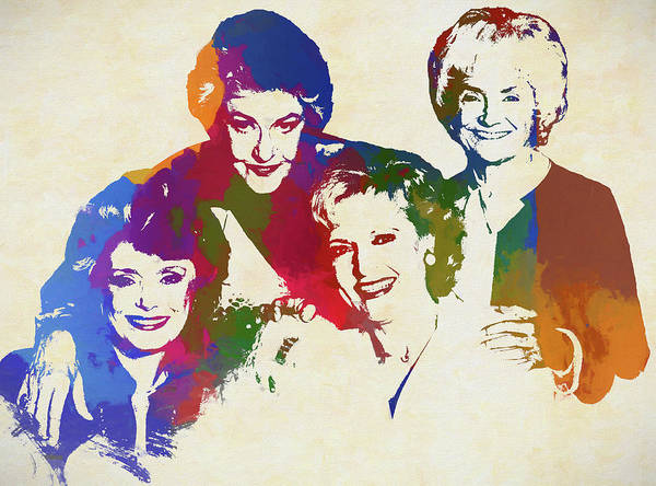 Wall Art - Painting - The Golden Girls by Dan Sproul