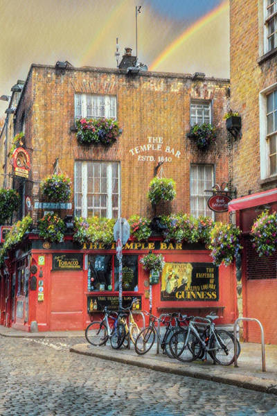 Photograph - The Golden Hour At The Temple Bar In Ireland by Debra and Dave Vanderlaan