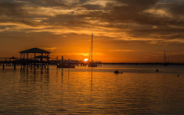 Photograph - The Golden Hour - Folly Beach, Sc by Donnie Whitaker