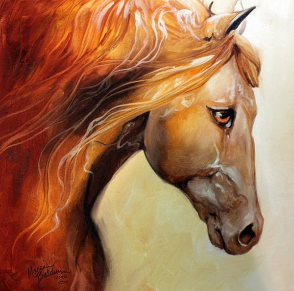 Umber Painting - The Golden by Marcia Baldwin