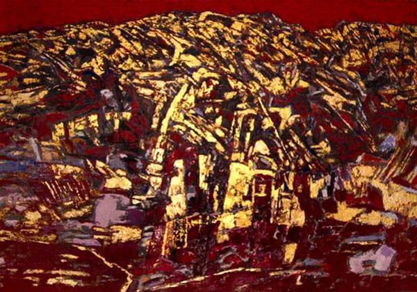 Wall Art - Painting - The Golden Mont Sinjajevina by Vladimir Vlahovic