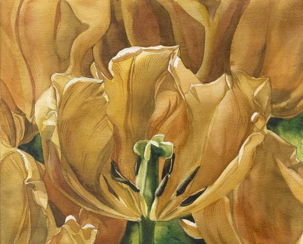 Painting - The Golden Tulips by Alfred Ng