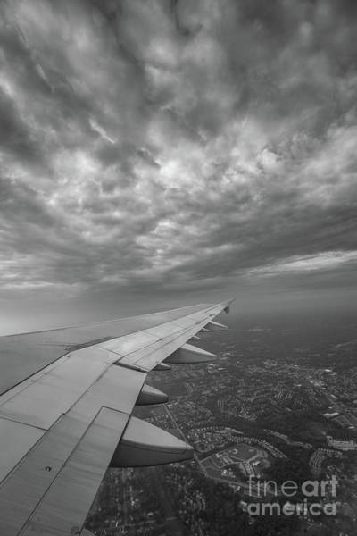 Delta Wing Photograph - The Golden Wing Bw  by Michael Ver Sprill
