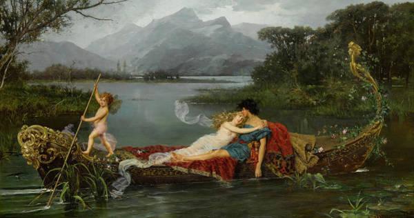 Tranquility Painting - The Gondola by Ignace Spiridon