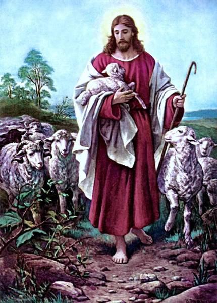 The Good Shepherd 1878 Bernhard Plockhorst Art Print