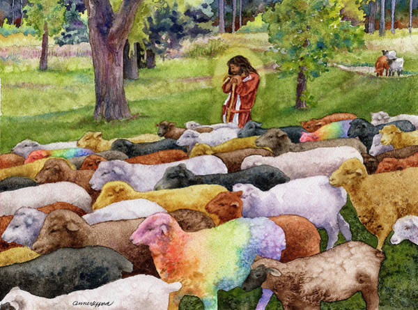 Painting - The Good Shepherd by Anne Gifford