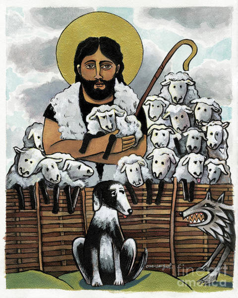 Painting - The Good Shepherd - Mmgoh by Br Mickey McGrath OSFS