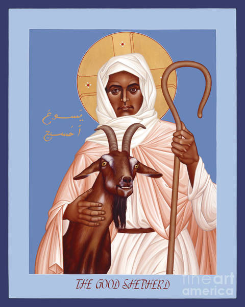 Painting - The Good Shepherd - Rlgos by Br Robert Lentz OFM