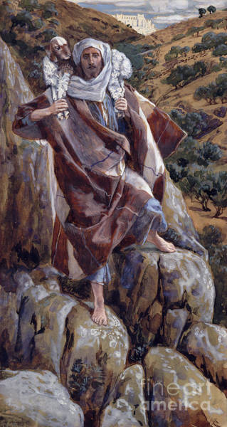 Saving Wall Art - Painting - The Good Shepherd by Tissot