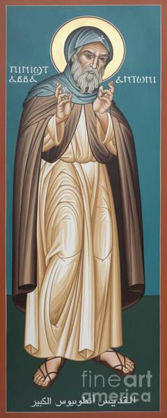 Painting - St. Antony Of Egypt - Rlaoe by Br Robert Lentz OFM