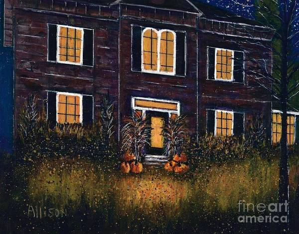 The Good Witch Grey House Art Print