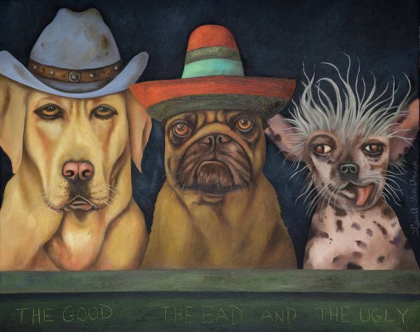 Bad Hair Wall Art - Painting - The Good,the Bad And The Ugly by Leah Saulnier The Painting Maniac