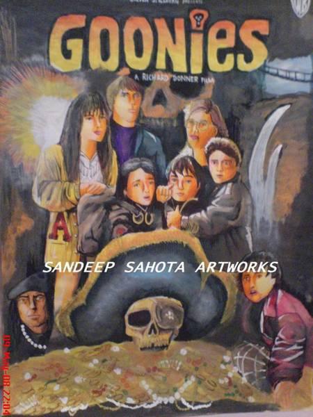 Orlando Bloom Painting - The Goonies by San Art Studio