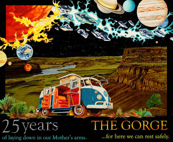 Wall Art - Drawing - The Gorge-one Sweet World by Joshua Morton