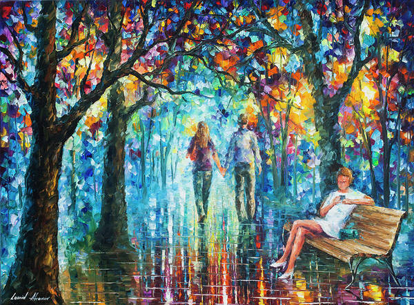 Wall Art - Painting - The Gossip Implication  by Leonid Afremov