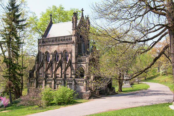 Wall Art - Photograph - The Gothic Temple In Spring Grove Cemetery by Phyllis Taylor