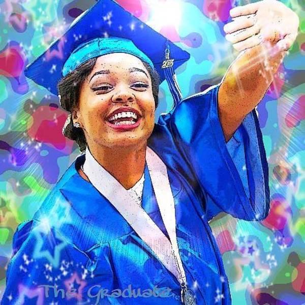 Digital Art - The Graduate  by Karen Buford