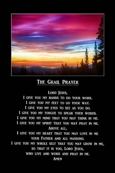 Photograph - The Grail Prayer by James BO Insogna