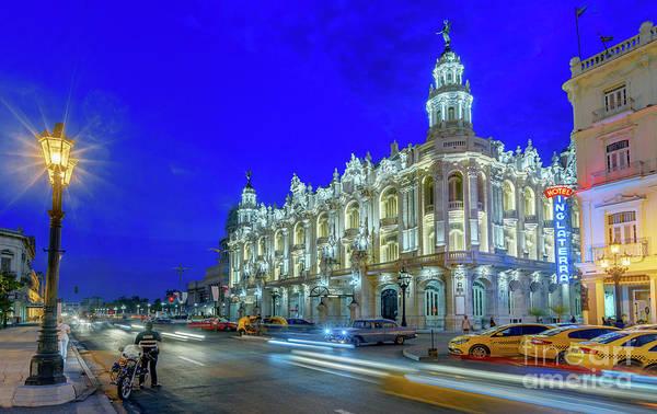 Evening Wall Art - Photograph - The Gran Teatro De La Habana Alicia Alonso  by Viktor Birkus