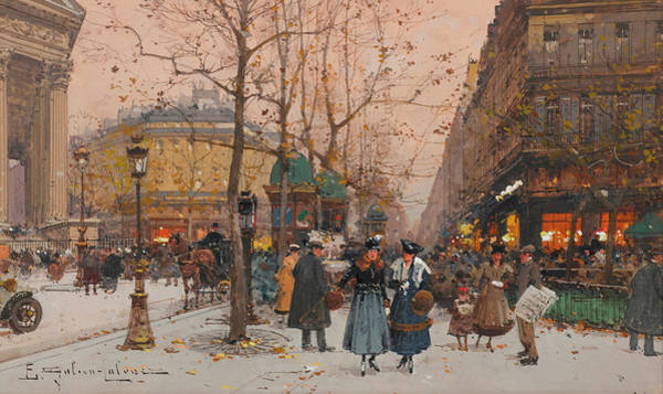 Boulevard Painting - The Grand Boulevards by Eugene Galien-Laloue