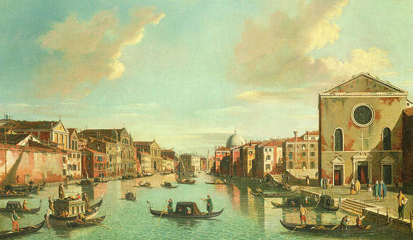 Waterway Painting - The Grand Canal  Venice by William James