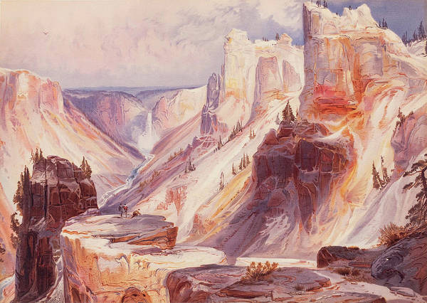 Wall Art - Painting - The Grand Canon Of The Yellowstone, Yellowstone National Park by Thomas Moran
