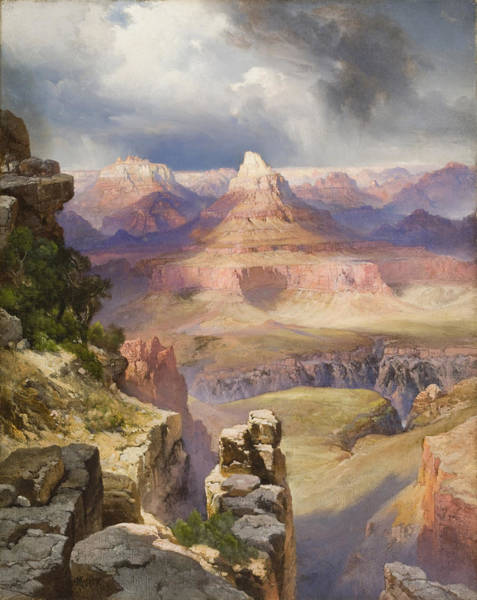 Desert Scene Painting - The Grand Canyon by Thomas Moran