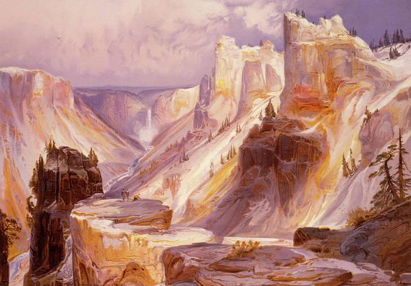 Moran Painting - The Grand Canyon, Yellowstone by Thomas Moran