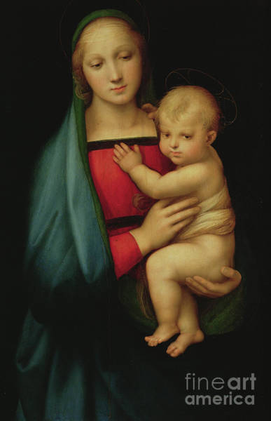 Wall Art - Painting - The Grand Duke's Madonna by Raphael