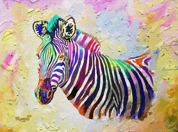 Vertebrate Painting - The Grand Donkey by Anthony Mwangi