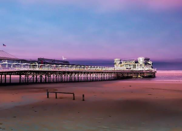 Somerset County Photograph - The Grand Pier. Weston Super Mare by Beryl Curran
